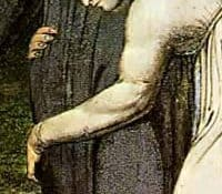 """""""Naomi entreating Ruth and Orpah to return to the land of Moab,"""" William Blake, 1795 (Detail)"""
