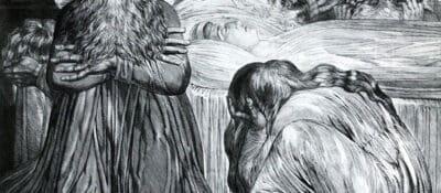 William Blake's image of Ezekiel mourning his wife