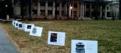 American University blackout poetry.