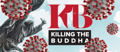 KtB's default image surrounded by floating images of the coronavirus