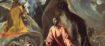 """El Greco, """"Agony in the Garden of Gethsemane."""""""