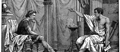 Aristotle gives teaching Alexander the college try.