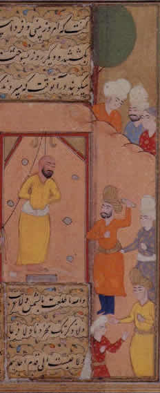 Mansur al-Hallaj hanged and stoned.