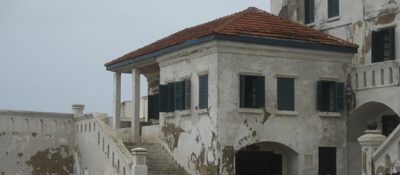 Anglican church above a slave dungeon in Ghana, by Nomade Moderne, via http://nomademoderne.wordpress.com/2008/04/