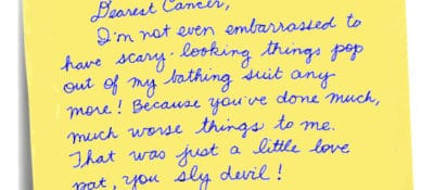 Note to cancer by author.