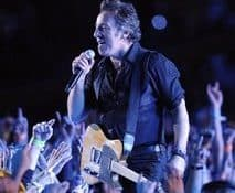 Bruce Springsteen performs at halftime during the NFL Super Bowl XLIII football game between the Arizona Cardinals and the Pittsburgh Steelers, Sunday, Feb. 1, 2009, in Tampa, Fla. (AP Photo/Amy Sancetta)