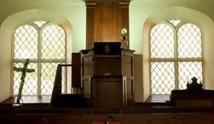"""Croik Church, pulpit"" by Lee Carson, via Flickr"