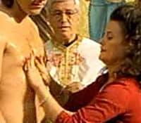 """Ian is baptised,"" from My Big Fat Greek Wedding"