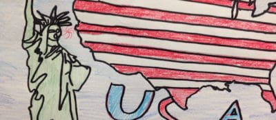 Drawn by a sixth-grader at South Windsor Elementary School