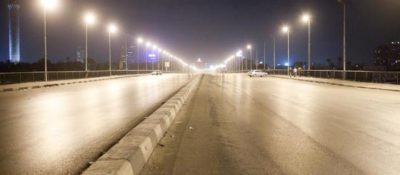 Bridge in Cairo, January 28, 2011. Photo by Timothy Kaldas.