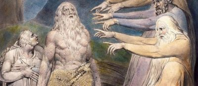 """""""Job Rebuked by His Friends"""" by William Blake, 1805-6."""