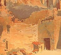 A day in the life of the Promised Land. Palestine travel poster, detail, 1898. From The Orientalist Poster, by Abderrahman Slaoui.