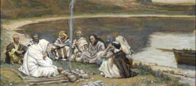 """""""Repas de Notre-Seigneur et des apôtres"""" by James Tissot, c. 1886-1894. Brooklyn Museum."""