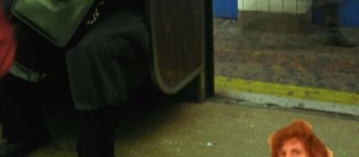 The author on the subway.