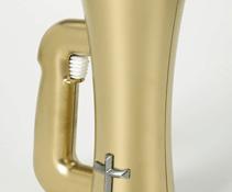 Beer stein or communion wafer dispenser?