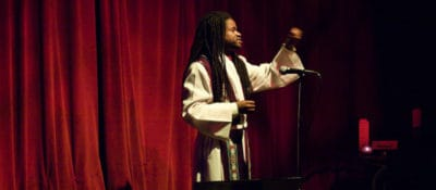 Rev. Sekou preaching at KtB's Tin Anniversary Spectacular in 2010. Photo by Aslan Chalom.