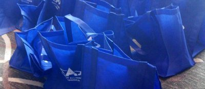 Swag bags at the Atheist Alliance of America 2013 conference