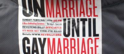 Unmarriage until gay marriage
