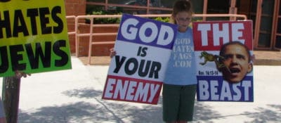 """""""Westboro Baptist Church outside ADL offices"""" by k763 via Flickr"""